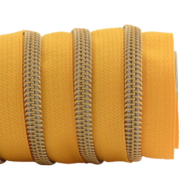 K-Bas Zipper tape Coil Sunny yellow - Gold