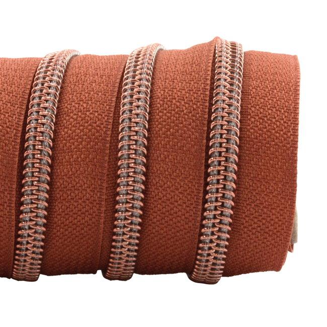 K-Bas Zipper tape Coil Terracotta - Rose gold