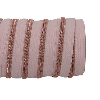 SO Zipper tape Coil Blush - Rose gold