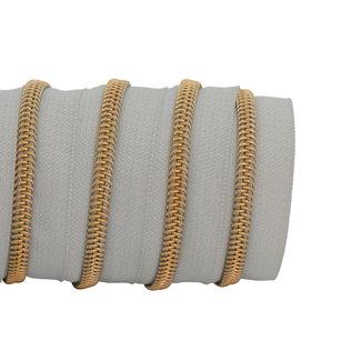K-Bas Zipper tape Coil Light grey - Gold