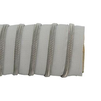 K-Bas Zipper tape Coil Light grey - Matt silver