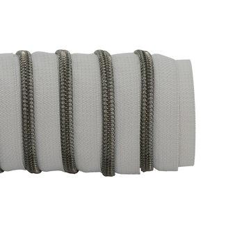 K-Bas Zipper tape Coil Light grey - Black nickel