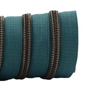 K-Bas Ritstape Spiraal Donker turquoise - Zwart nikkel