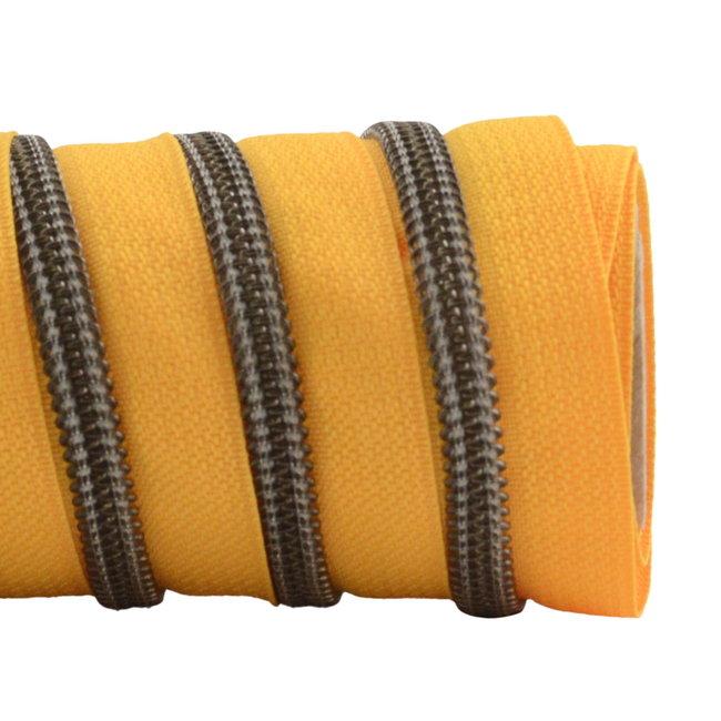 K-Bas Zipper tape Coil Sunny yellow - Black nickel
