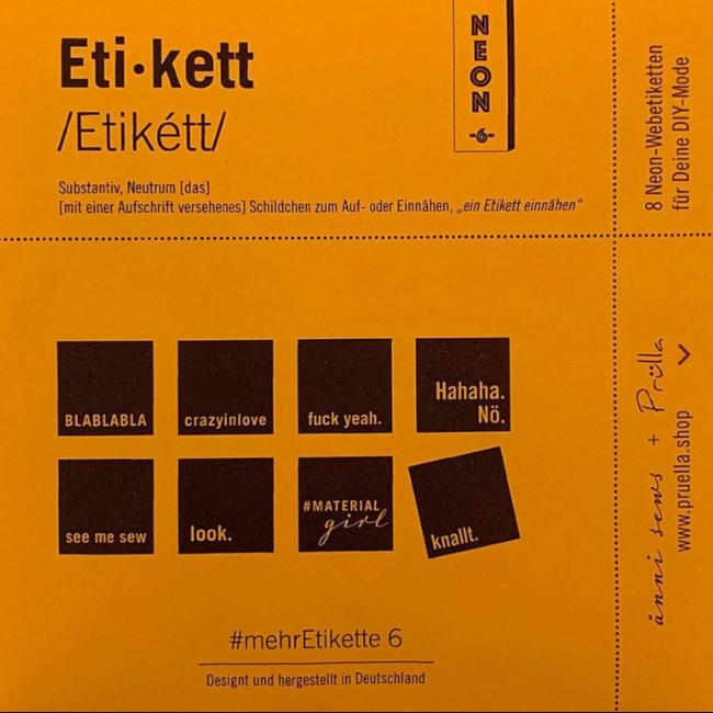 Mehretikette Innaailabels Editie 6 - Neon