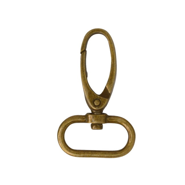 Zipper zoo Elegante musketon Brons