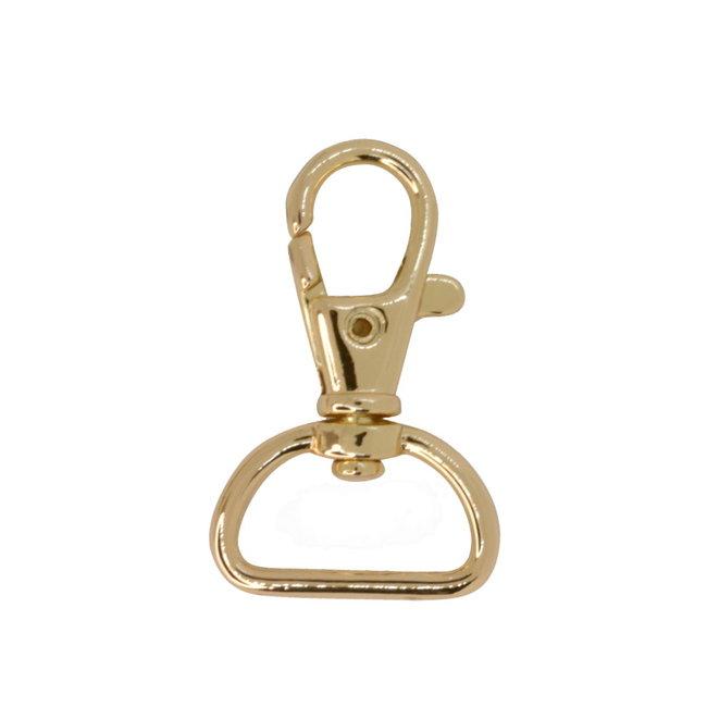 Zipper zoo Swivel hook Basic Light gold