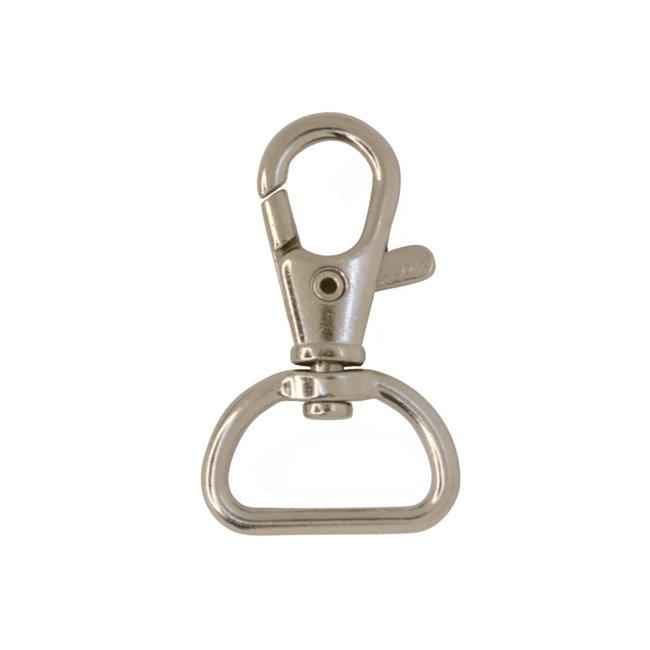 Zipper zoo Swivel hook Basic Nickel