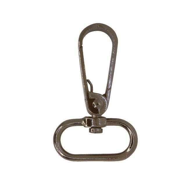 Zipper zoo Flat swivel hook Black nickel