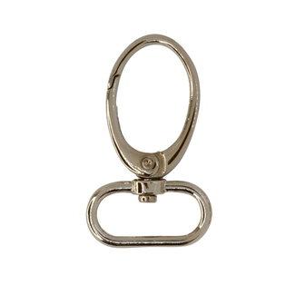 Oval swivel hook Nickel 25mm