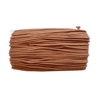 Cotton cord Cognac 5mm