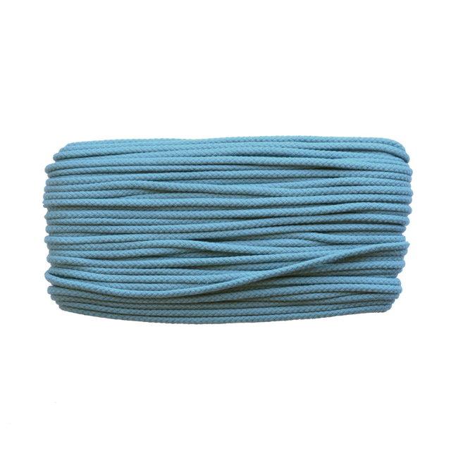 Katoenen koord Staalblauw 5mm