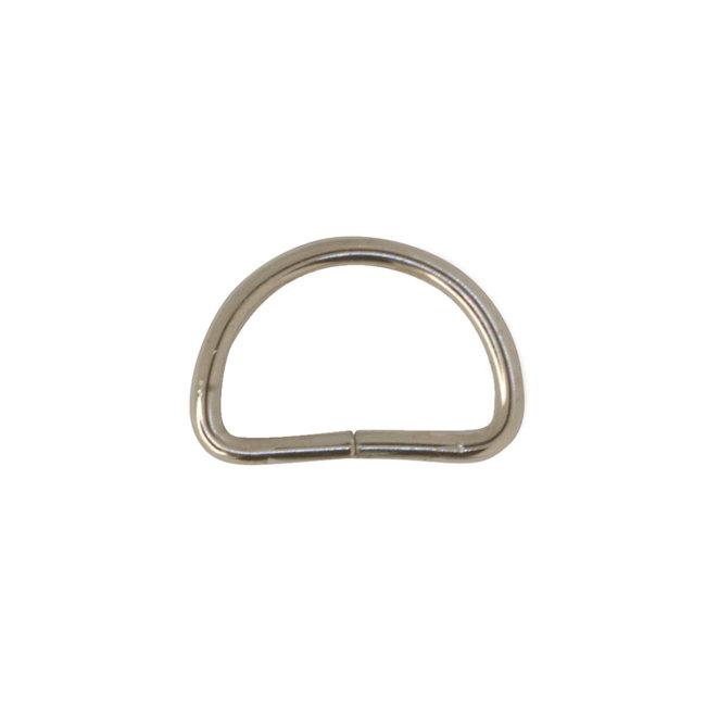 Zipper zoo D-ring Basis Nikkel