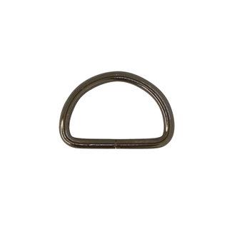 K-Bas D-ring Basis Zwart nikkel