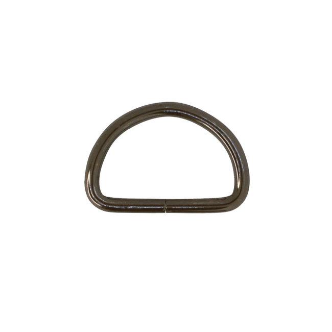 K-Bas D-ring Zwart nikkel