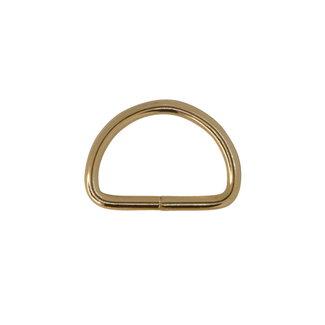 Zipper zoo D-ring Basic Light gold