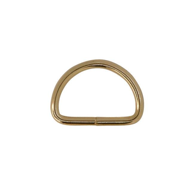 Zipper zoo D-ring Basis Lichtgoud