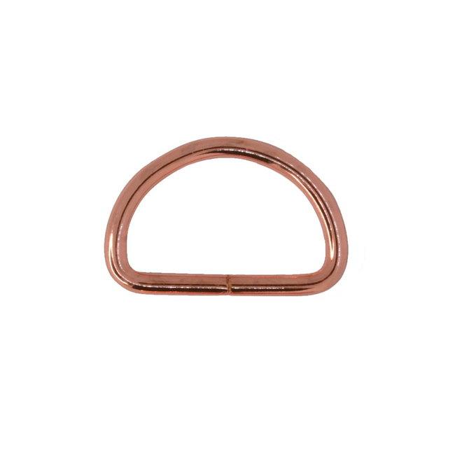 Zipper zoo D-ring Basis Rosé goud
