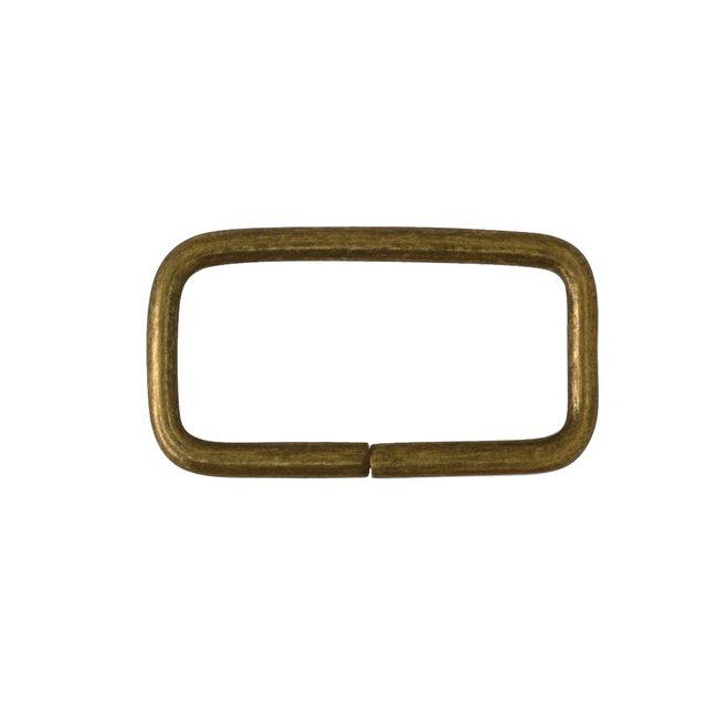 K-Bas Rechthoekige ring Basis Brons