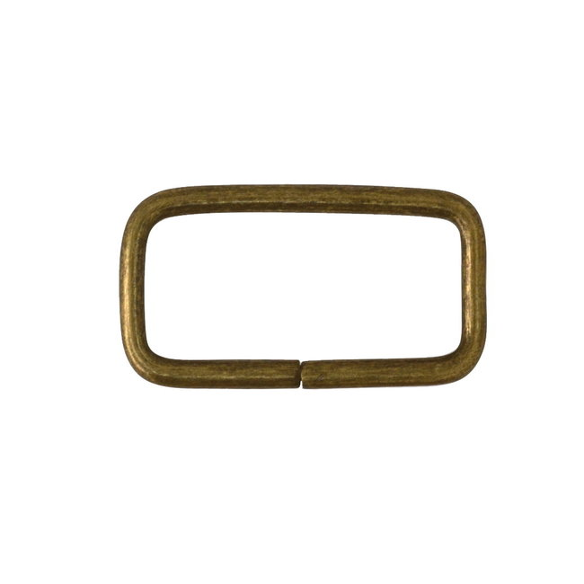 Zipper zoo Rectangular ring Basic Anti-brass