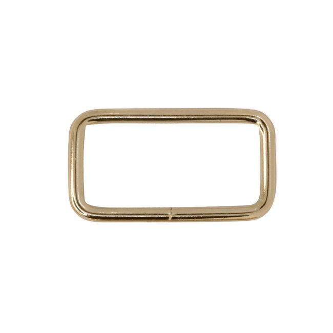 K-Bas Rechthoekige ring Basis Lichtgoud