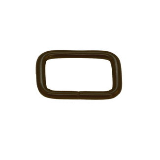 Zipper zoo Rectangular ring Basic Matt black