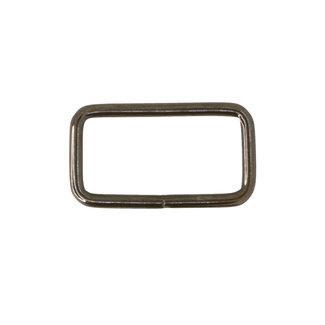 K-Bas Rectangular ring Basic Black nickel