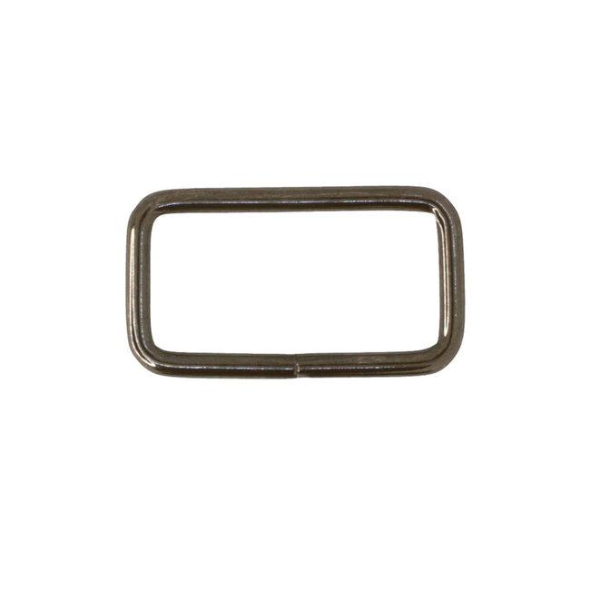 K-Bas Rechthoekige ring Basis Zwart nikkel