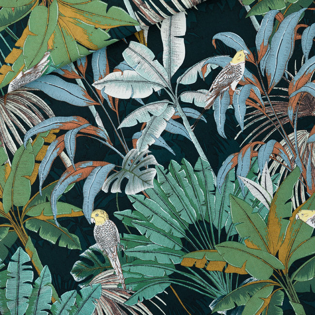 See You At Six Cotton Twill Canvas Jungle Green Gables