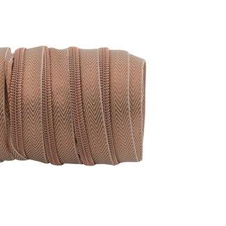 SO Zipper tape Coil Lurex Rose gold