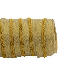 SO Zipper tape Coil Lurex Warm gold