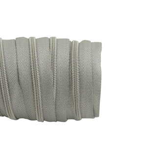 SO Zipper tape Coil Lurex Silver