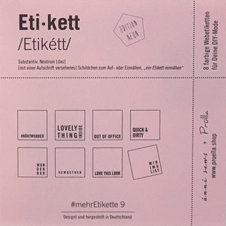 Mehretikette Sew in Labels Edition 3 - Berry