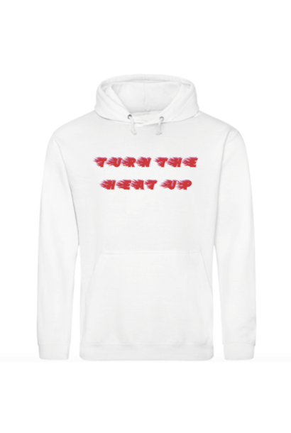 TURN THE HEAT UP HOODIE - WIT