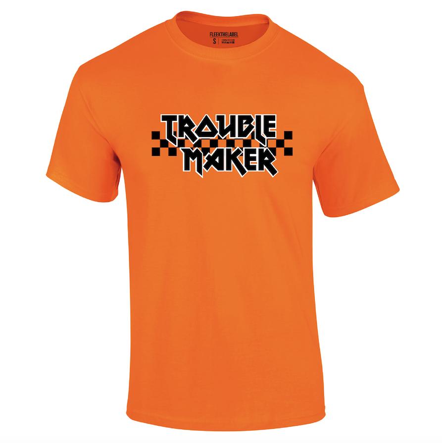 TROUBLE MAKER T-SHIRT - NEON ORANGE-2