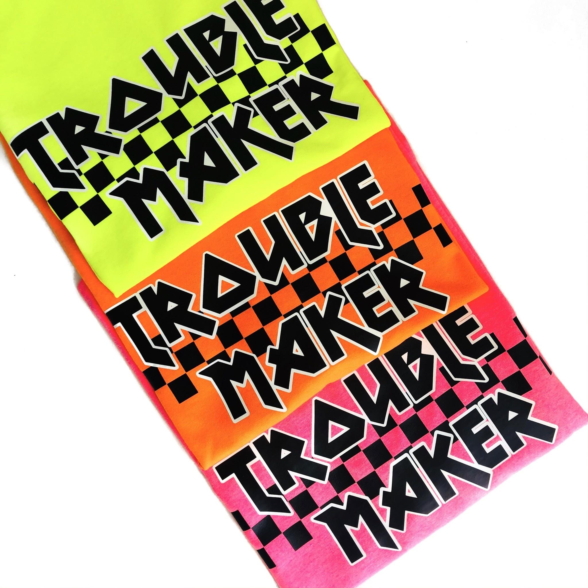 TROUBLE MAKER T-SHIRT - NEON ORANGE-3