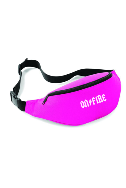 ON FIRE FANNYPACK - NEON PINK