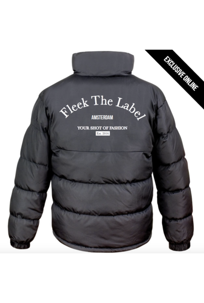 FLEEK EST PUFFER JACKET - BLACK