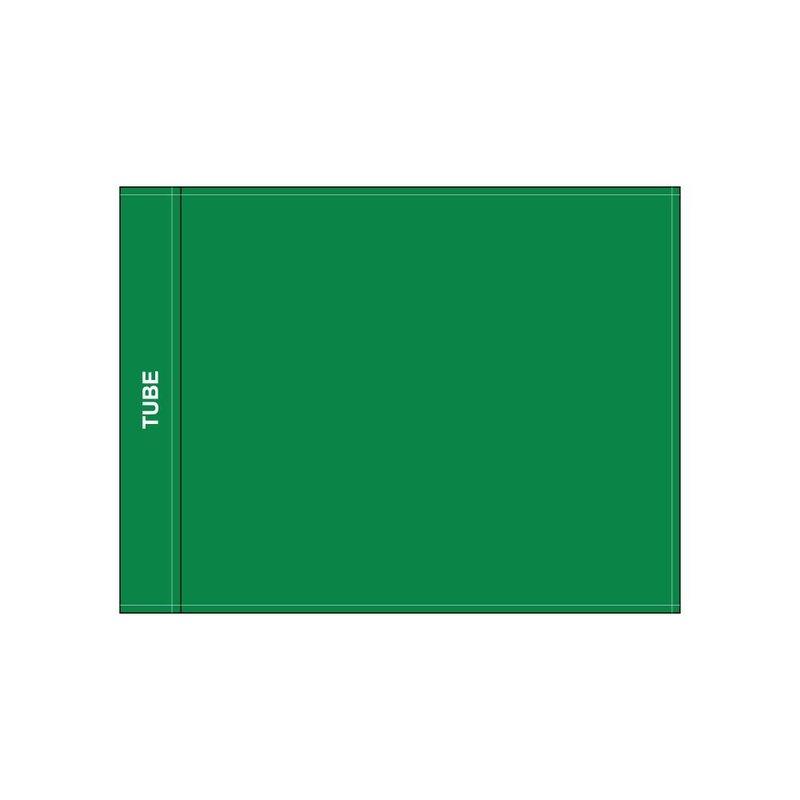 Golfvlag, effen, groen
