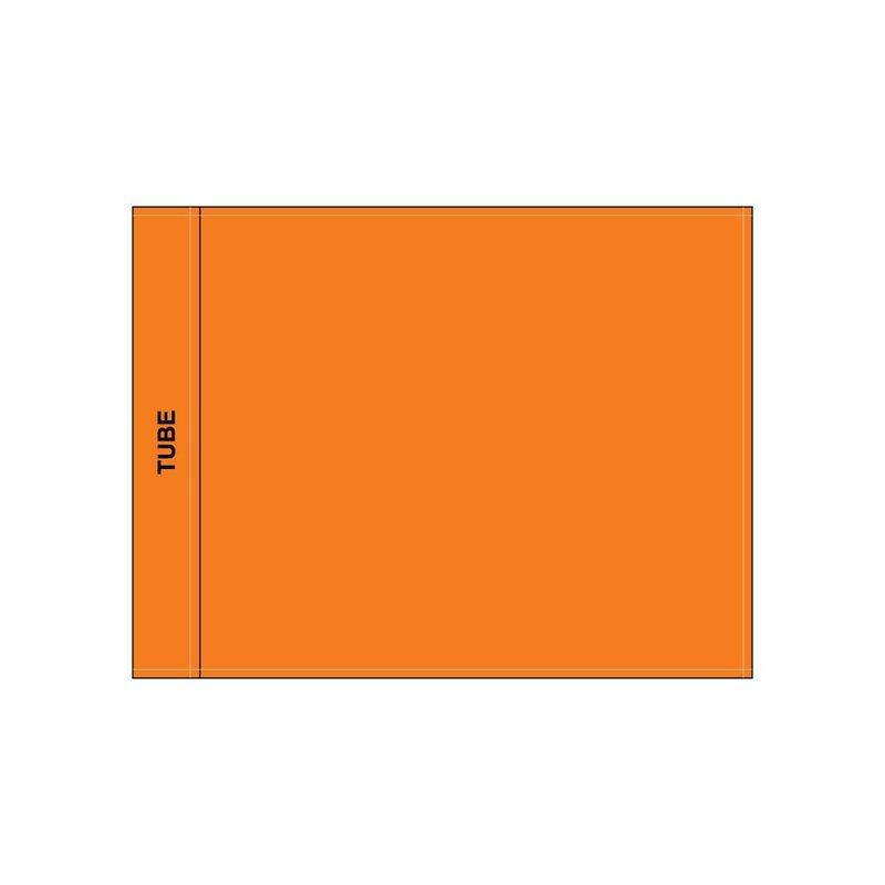 Golf flag, plain, orange