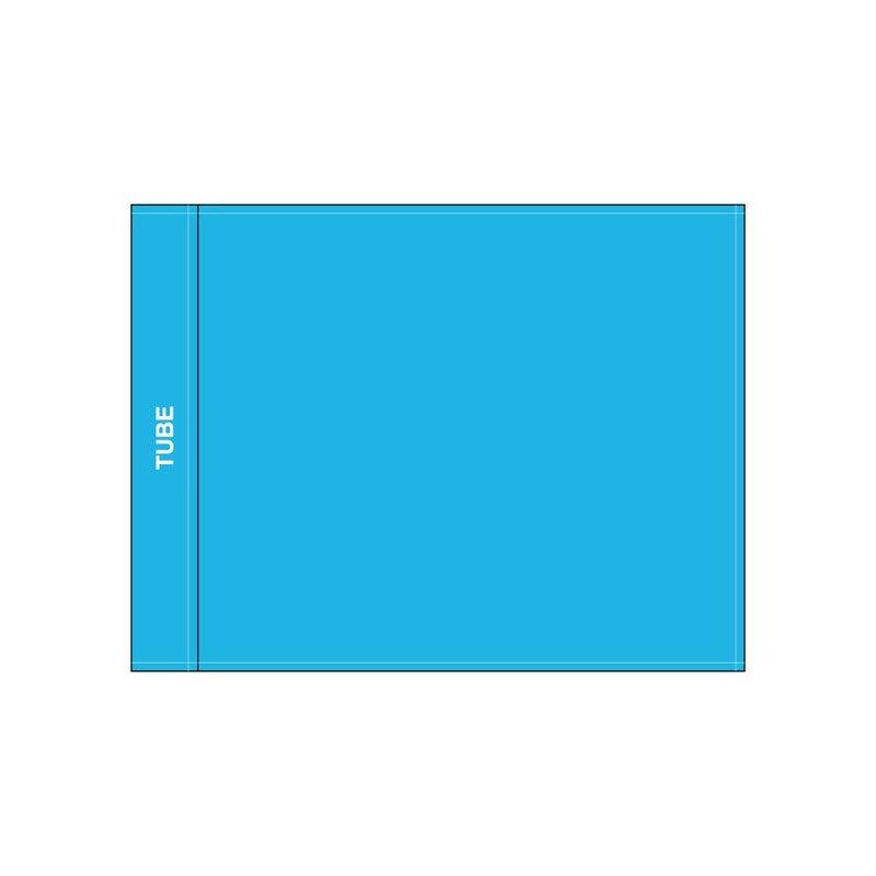 Golf flag, plain, light blue