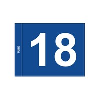 Golf flag, numbered