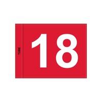 GolfFlags GV  genummerd, rood