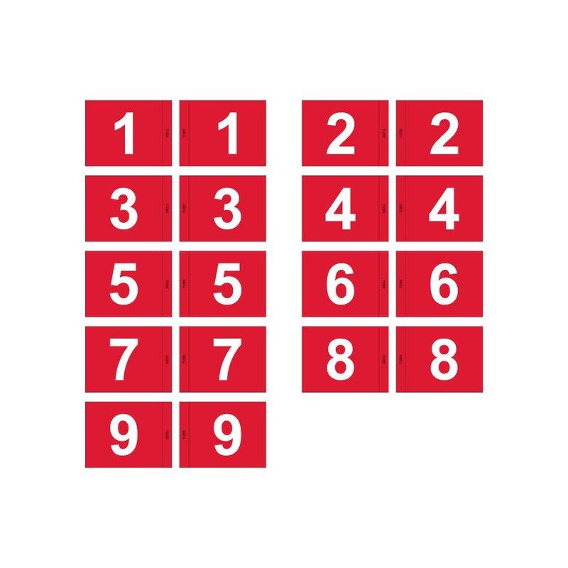 GolfFlags Golfvlag, genummerd, rood