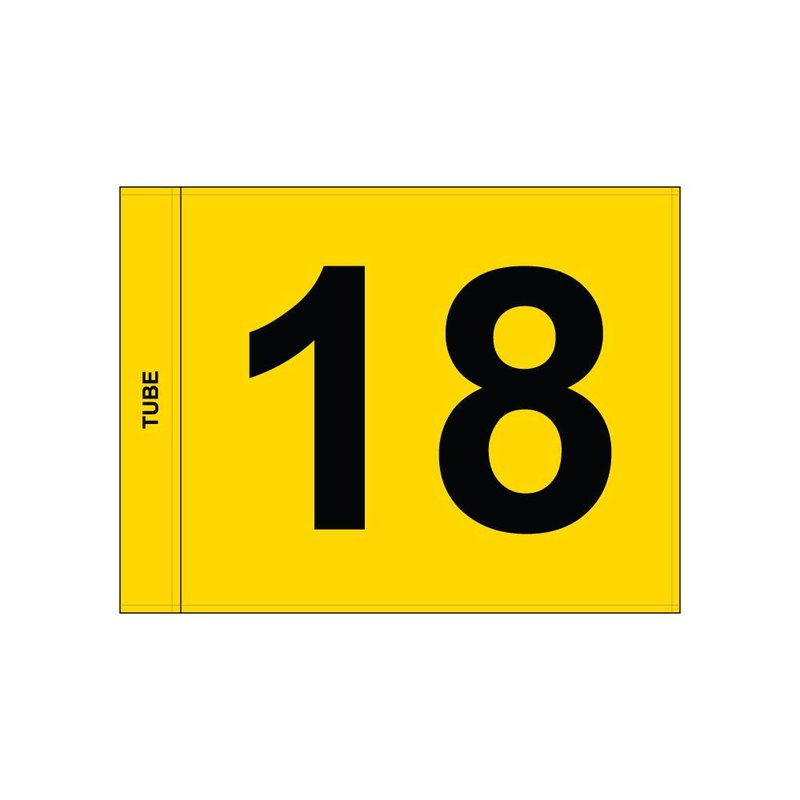 GolfFlags Golf flag, numbered, yellow