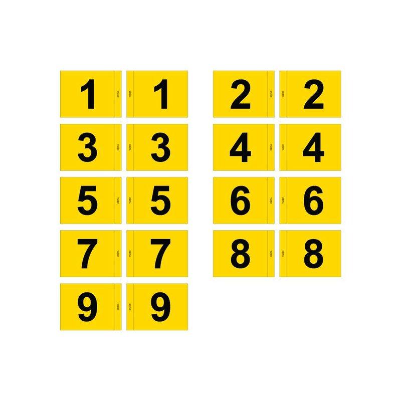 GolfFlags Golfvlag, genummerd, geel