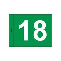 GolfFlags GF  numbered, green