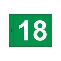 GolfFlags GF  nummeriert, grün