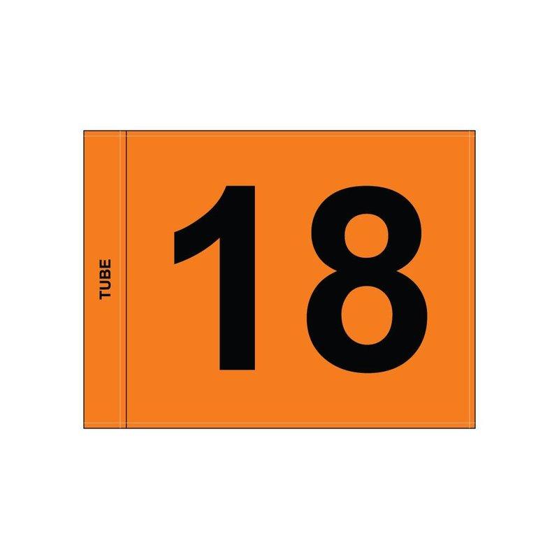 Golffahnen, nummeriert, orange