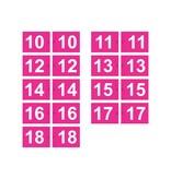 Golf flag, numbered, pink
